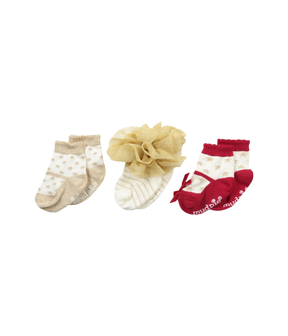 Mud Pie - Sparkly Sock Set (Infant) (Gold) Girls Shoes