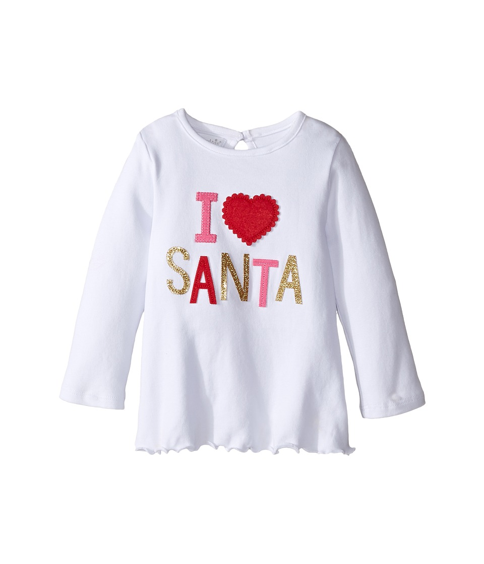Mud Pie - I Love Santa Tunic (Infant/Toddler) (White) Girl's Blouse