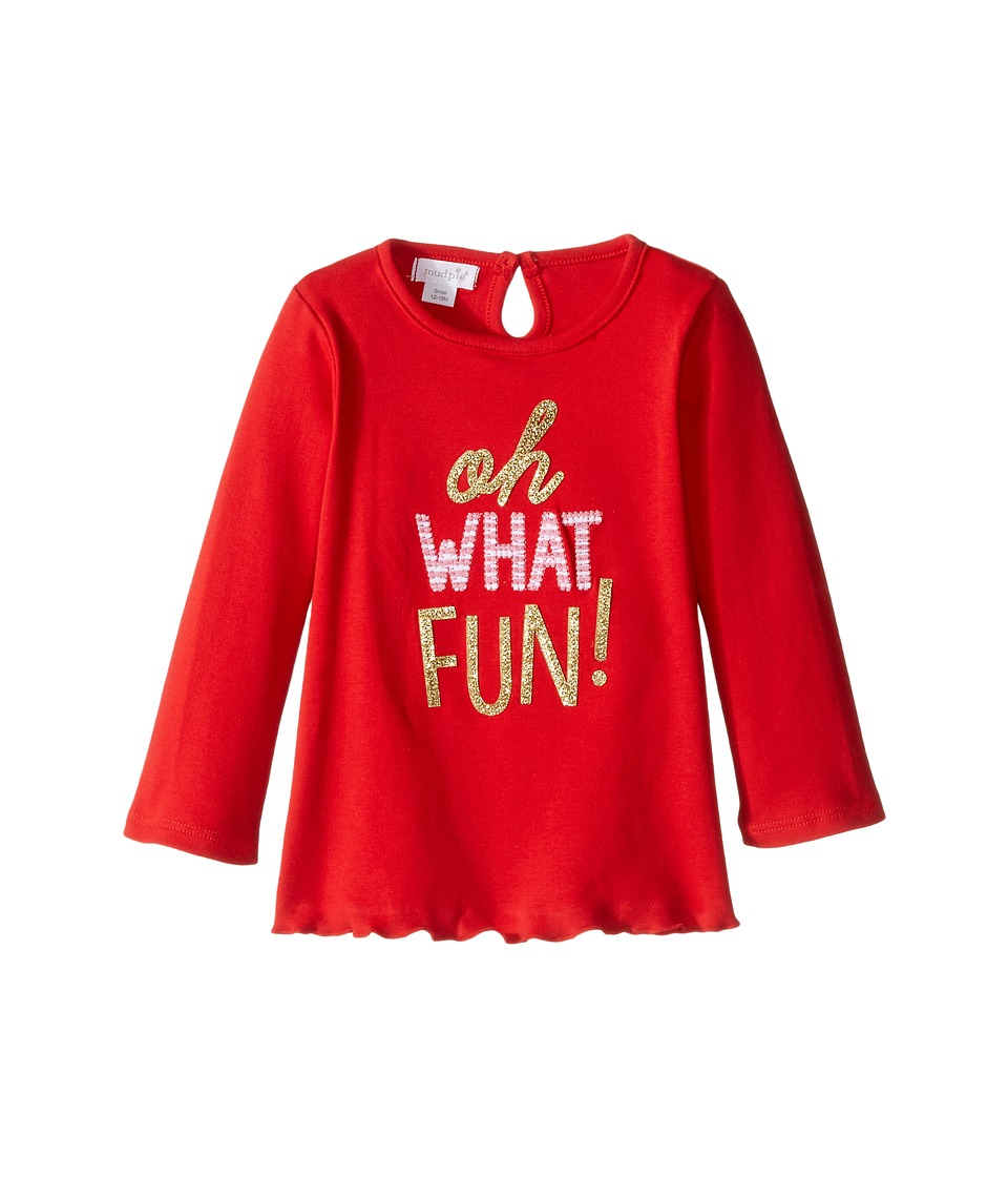 Mud Pie - Oh What Fun Tunic (Infant/Toddler) (Red) Girl's Blouse