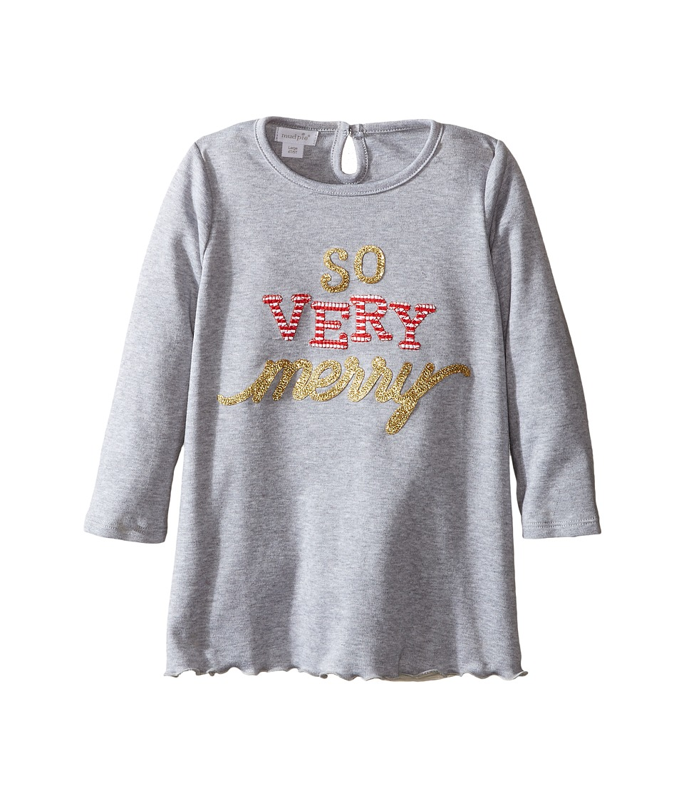 Mud Pie - So Very Merry Tunic (Infant/Toddler) (Grey) Girl's Blouse