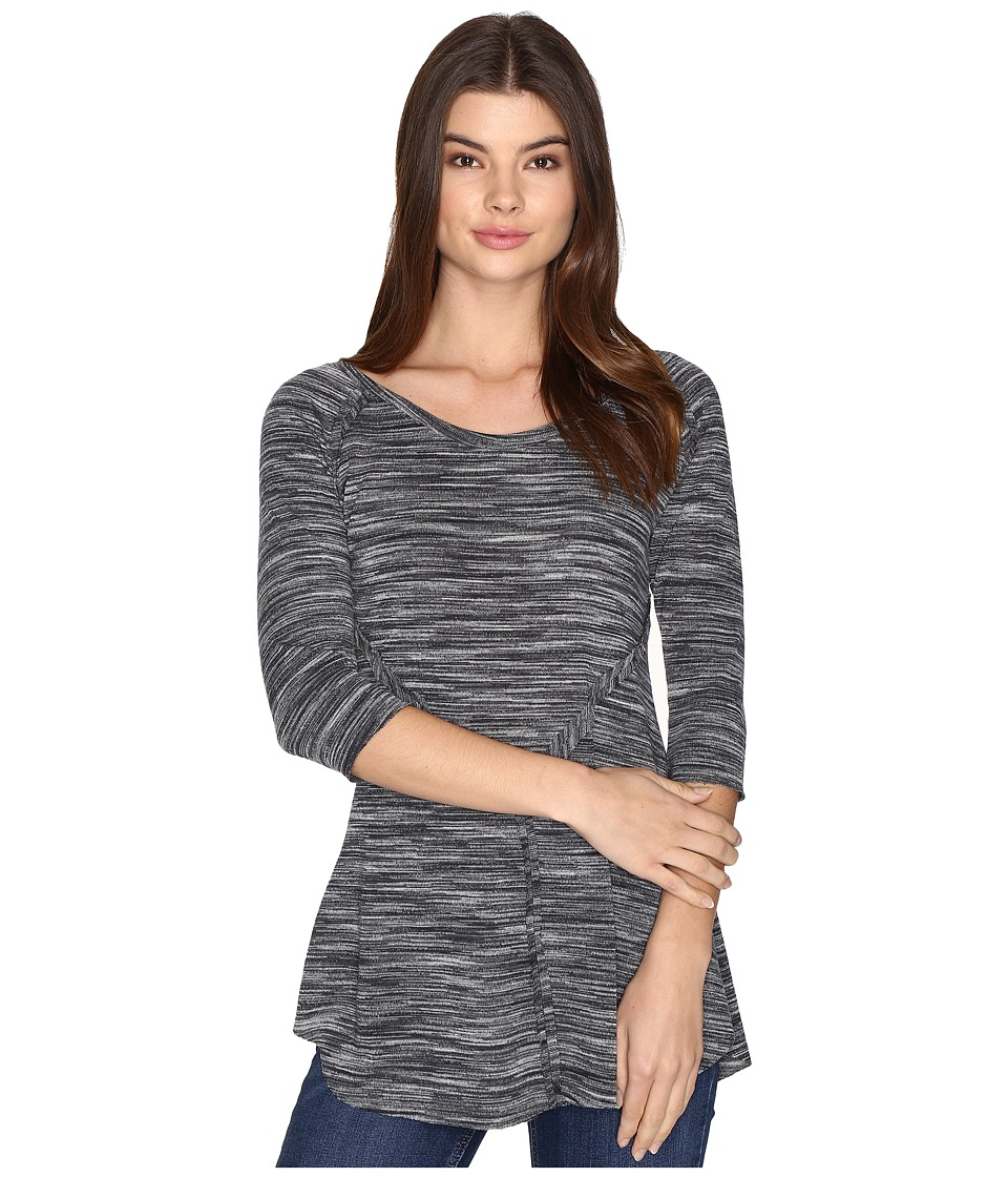 Roper - 0536 Space Dyed Sweater Jersey Pieced Top (Black) Women's Sweater