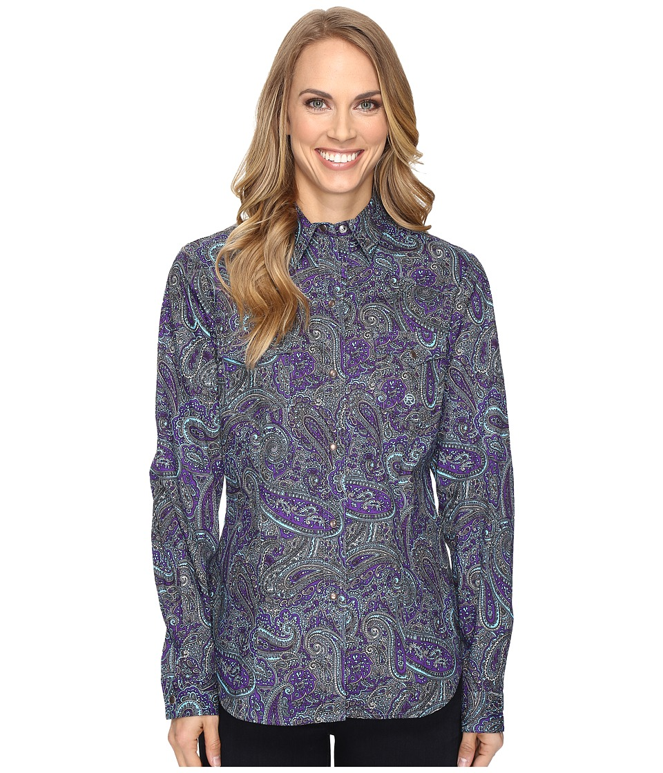 Roper - 0562 Crushed Paisley (Purple) Women's Clothing