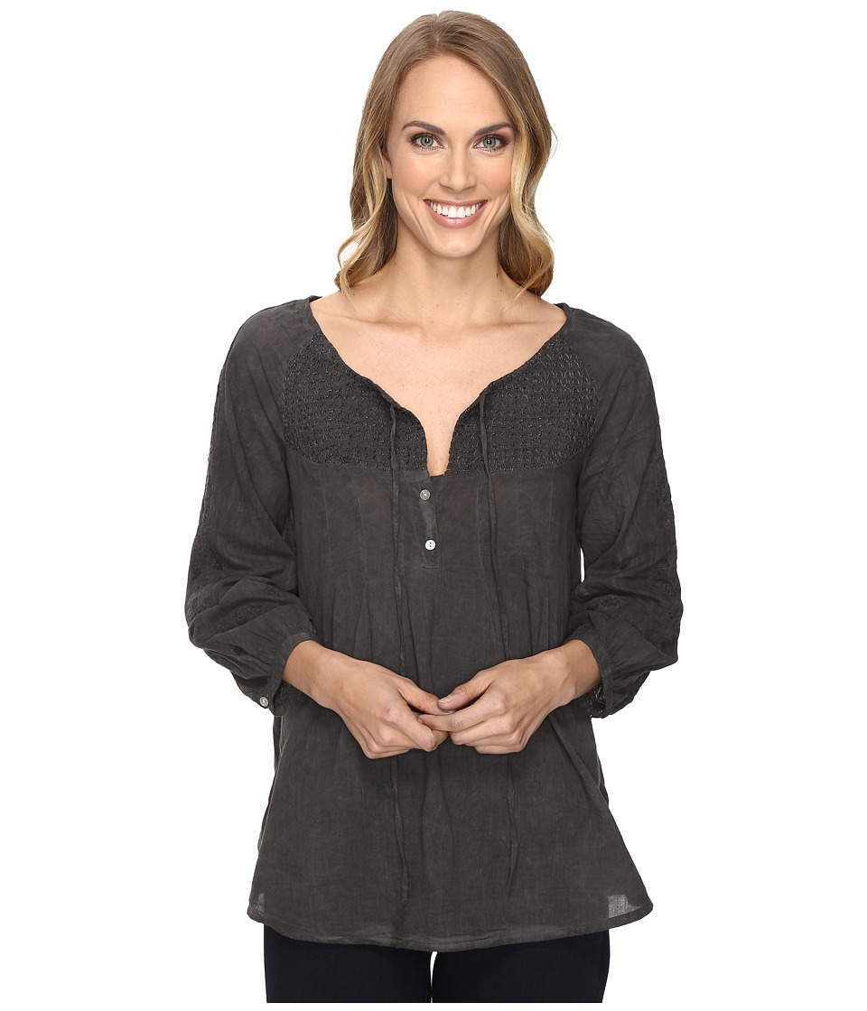Roper - 0805 Rayon Peasant Blouse (Black) Women's Blouse