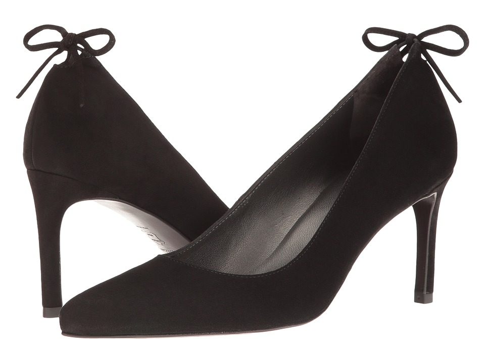 Stuart Weitzman - Peekabow (Black Suede) Women's Shoes