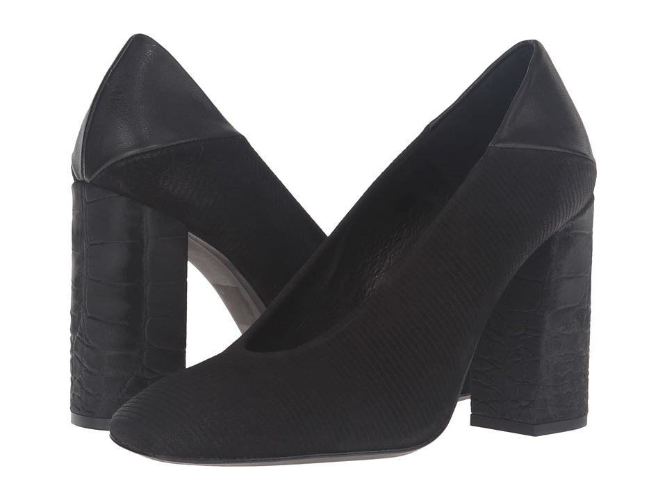 Free People - Take Heart Block Heel (Black) High Heels