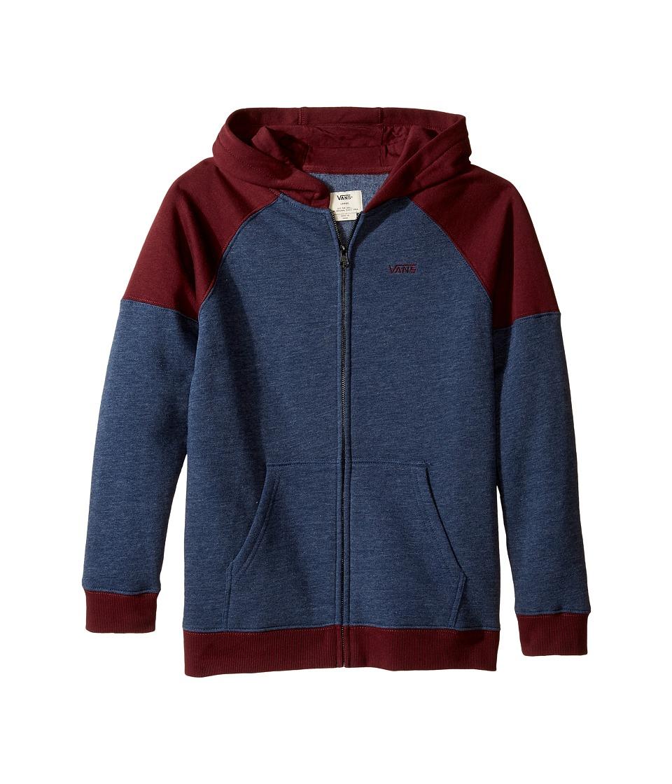 Vans Kids - Core Color Block II Pullover Fleece (Big Kids) (Dress Blues Heather/Port Royale) Boy's Fleece