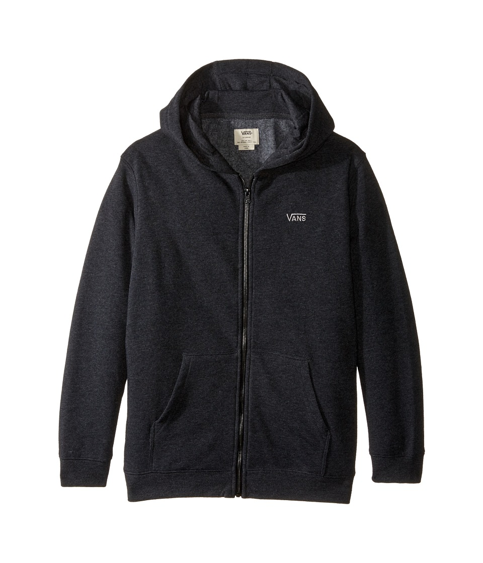 Vans Kids - Core Basic Zip Fleece IV (Big Kids) (Black Heather) Boy's Fleece