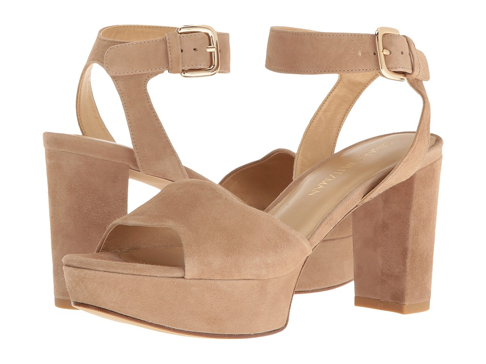Stuart Weitzman - Realdeal (Mojave Suede) Women's Wedge Shoes