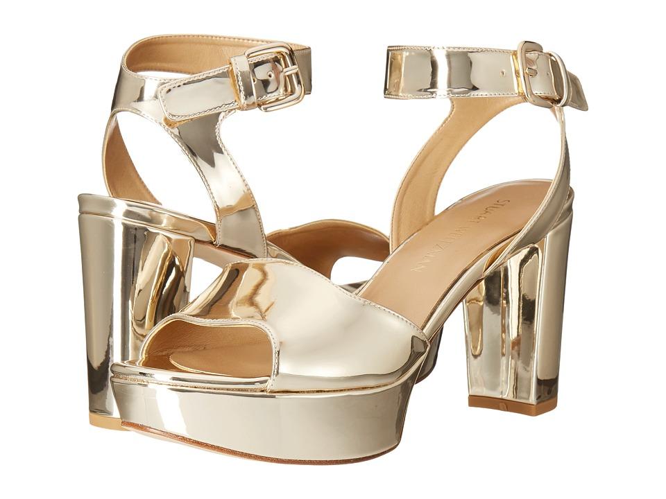Stuart Weitzman - Realdeal (Pale Gold Glass) Women's Wedge Shoes
