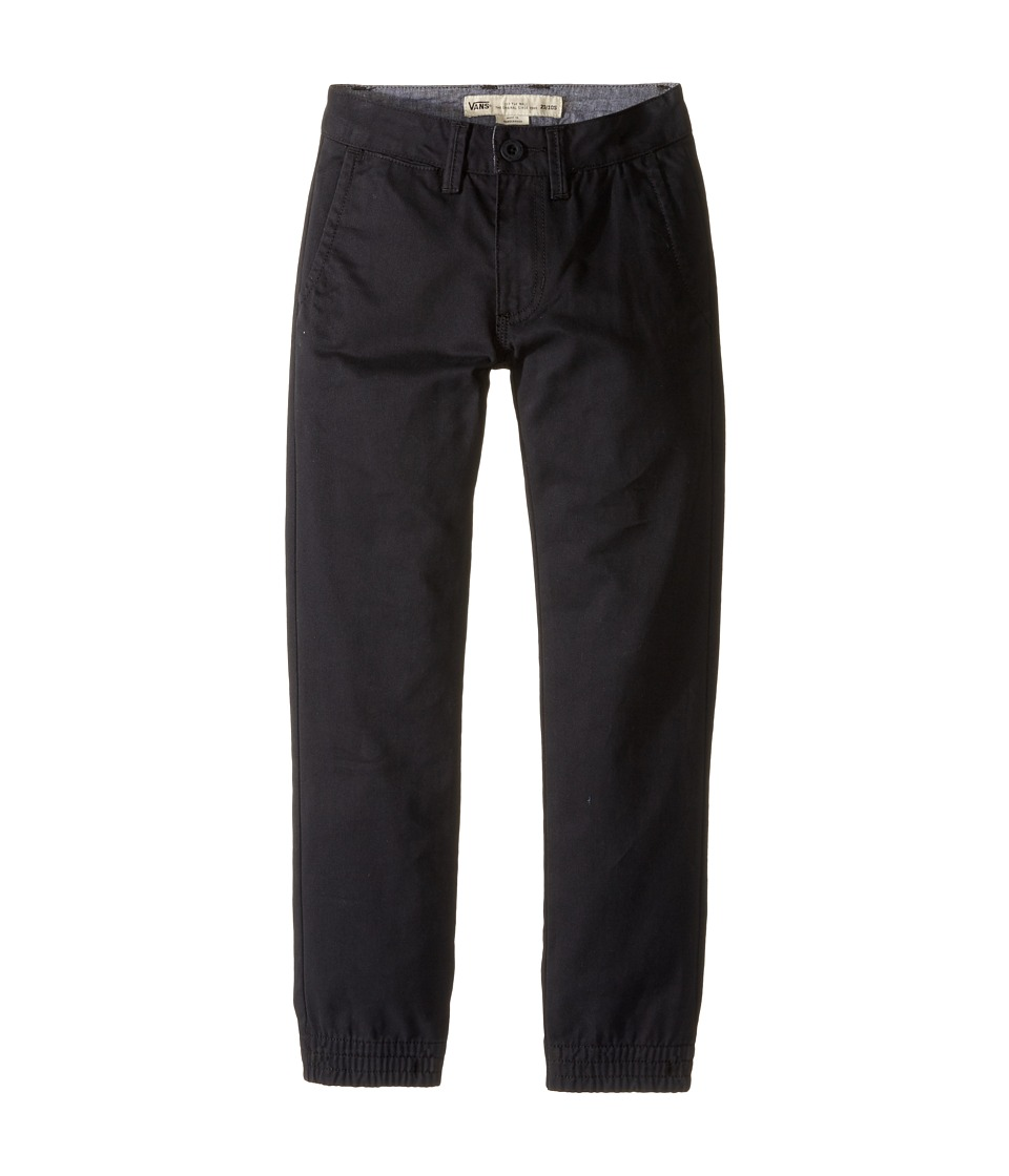 Vans Kids - Excerpt Chino Pegged Pants (Little Kids/Big Kids) (Black) Boy's Casual Pants