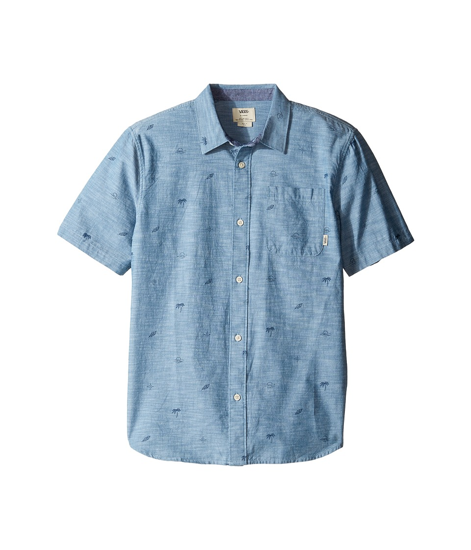 Vans Kids - Sundown Short Sleeve Woven (Big Kids) (Blue Ashes Sundown) Boy's Clothing