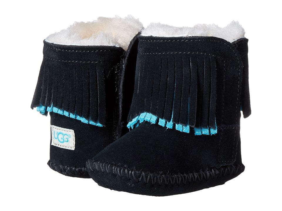 UGG Kids - Branyon Fringe (Infant/Toddler) (Black) Girls Shoes