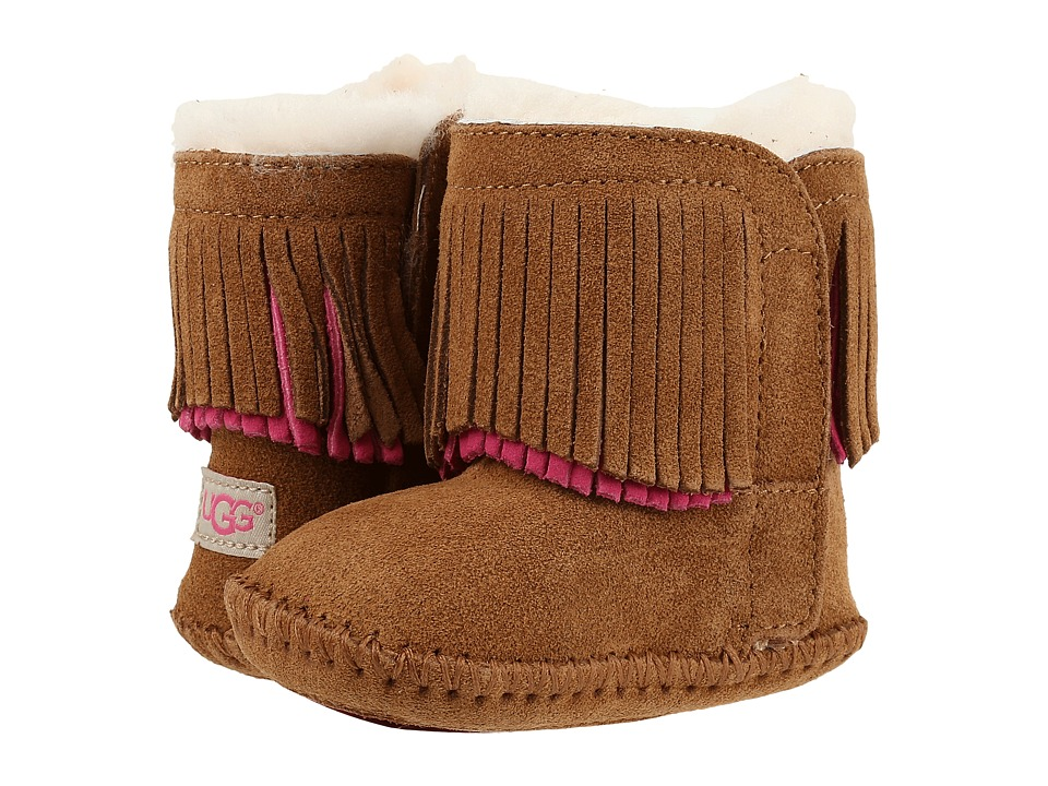 UGG Kids - Branyon Fringe (Infant/Toddler) (Chestnut) Girls Shoes