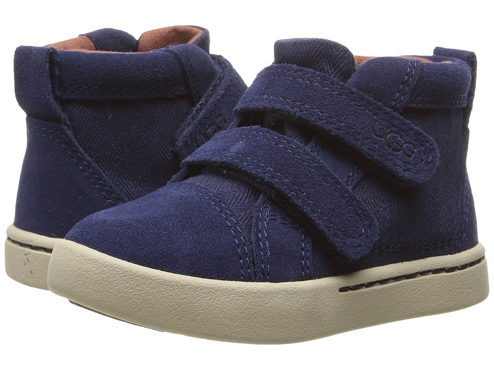 UGG Kids - Rennon Herringbone (Toddler/Little Kid) (Peacoat) Kid's Shoes