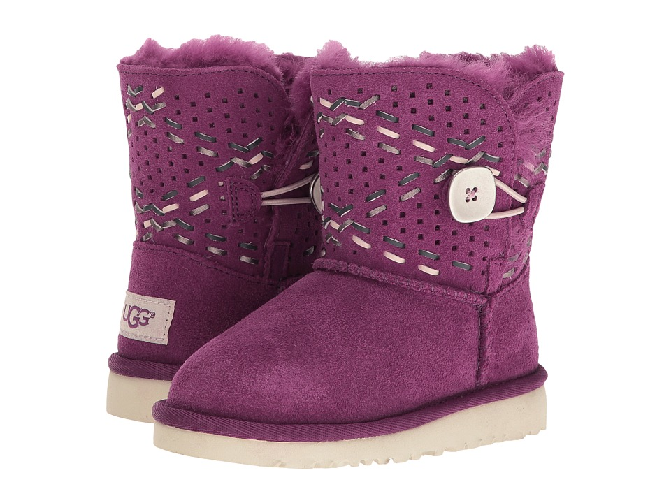 UGG Kids - Bailey Button Tehuano (Toddler/Little Kid) (Purple Passion) Girls Shoes