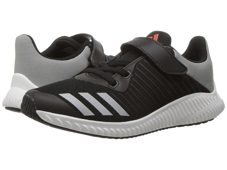 adidas Kids - FortaRun EL (Little Kid/Big Kid) (Black/Energy/Silver) Boys Shoes