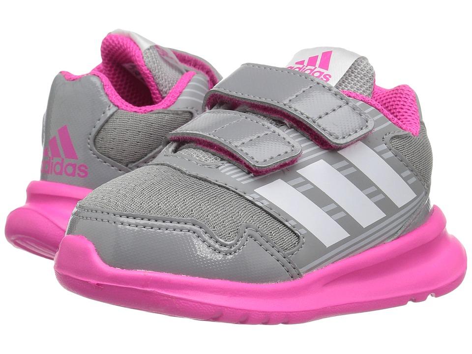 adidas Kids - AltaRun (Toddler) (Clear Grey/Footwear White/Shock Pink) Girls Shoes