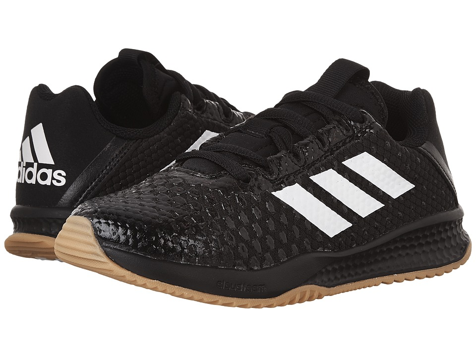 adidas Kids - Turf Trainer (Little Kid/Big Kid) (Black/White/Gum) Boys Shoes