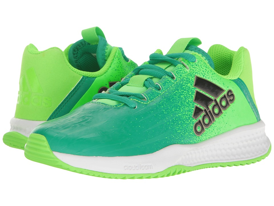 adidas Kids Turf Trainer (Little Kid/Big Kid) (Solar Green/Black