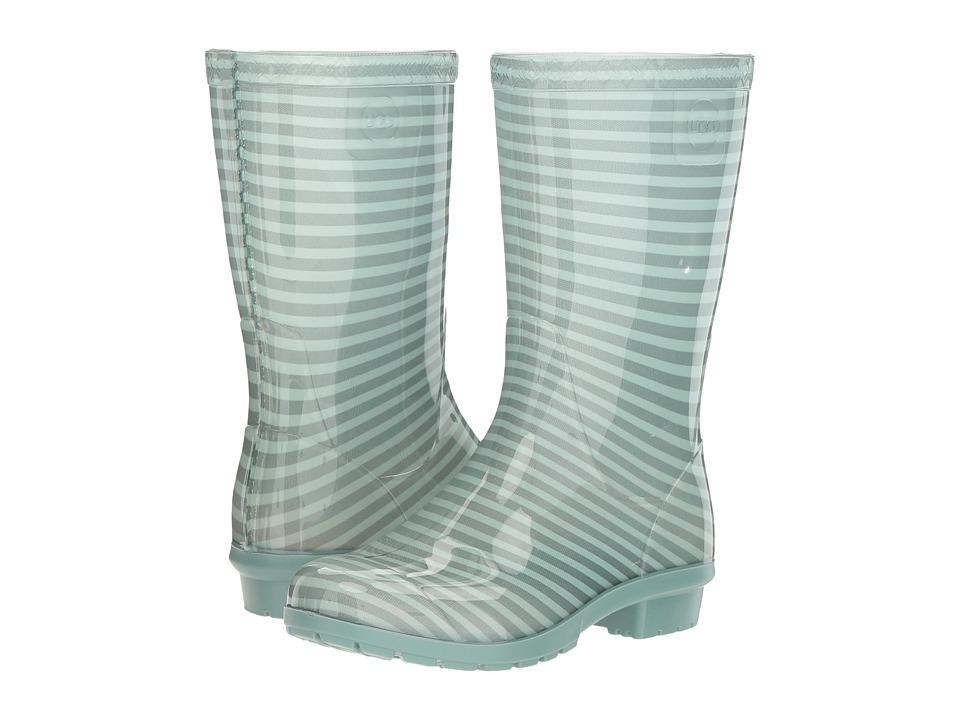 UGG Kids - Raana Stripes (Little Kid/Big Kid) (Aloe Vera) Girls Shoes