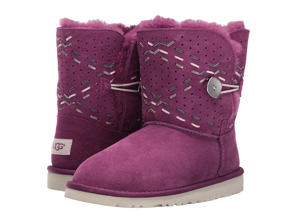 UGG Kids - Bailey Button Tehuano (Big Kid) (Purple Passion) Girls Shoes