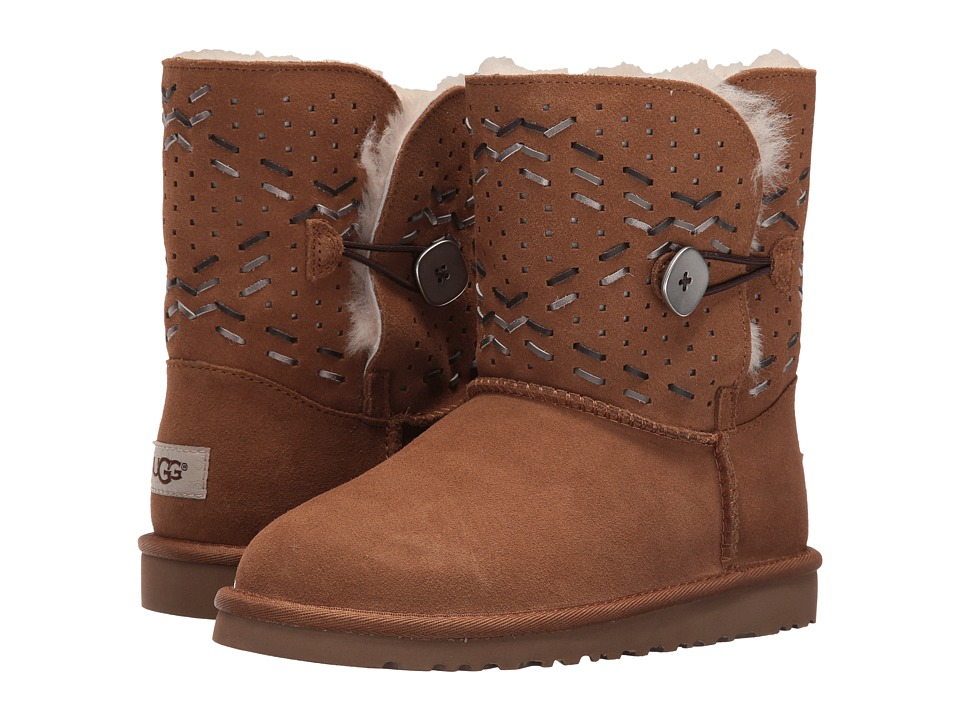 UGG Kids - Bailey Button Tehuano (Big Kid) (Chestnut) Girls Shoes