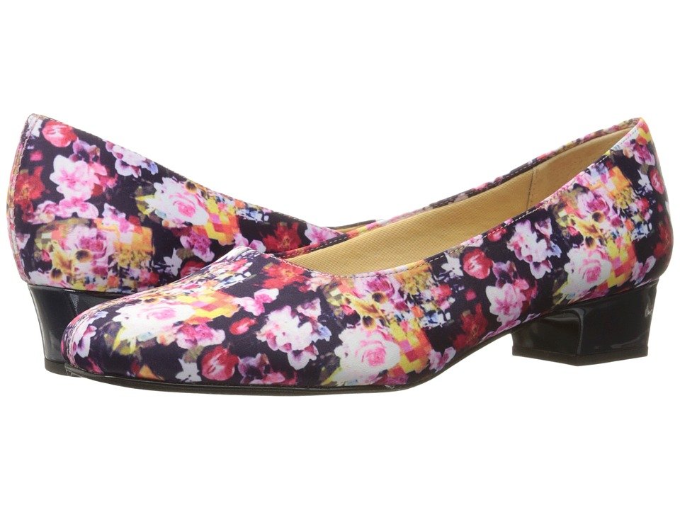 Trotters - Doris (Wash Floral) Women's 1-2 inch heel Shoes