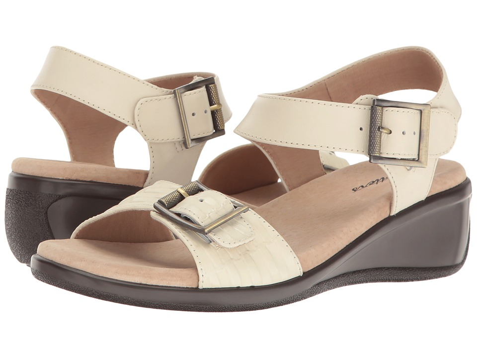 Trotters - Eden (Beige Embossed/Beige) Women's Wedge Shoes