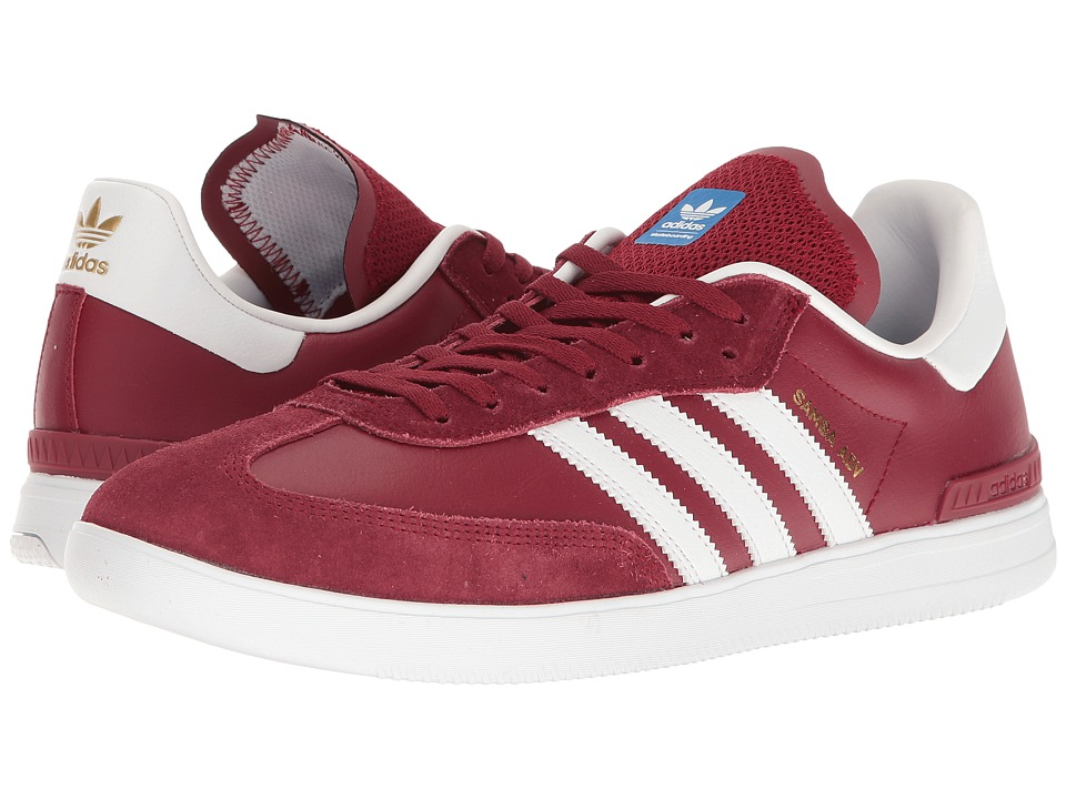 adidas Skateboarding - Samba ADV (Collegiate Burgundy/White/Bluebird) Men's Skate Shoes