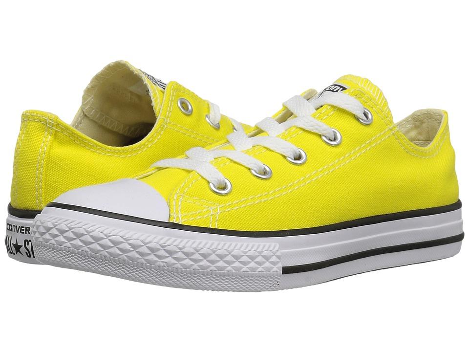 Converse Kids Chuck Taylor All Star Ox (Little Kid) (Fresh Yellow) Kids Shoes