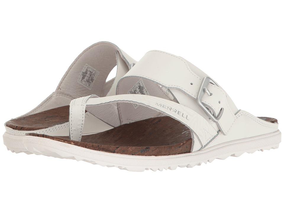Merrell - Around Town Thong Buckle Print (White) Women's Sandals