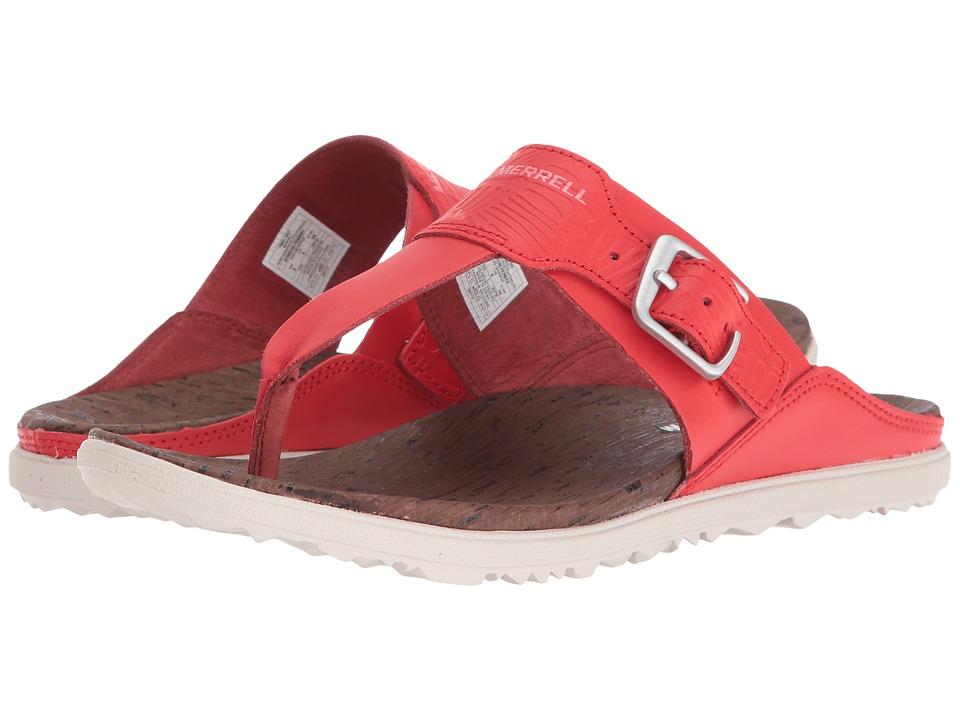 Merrell - Around Town Post Print (Fiery Red) Women's Sandals