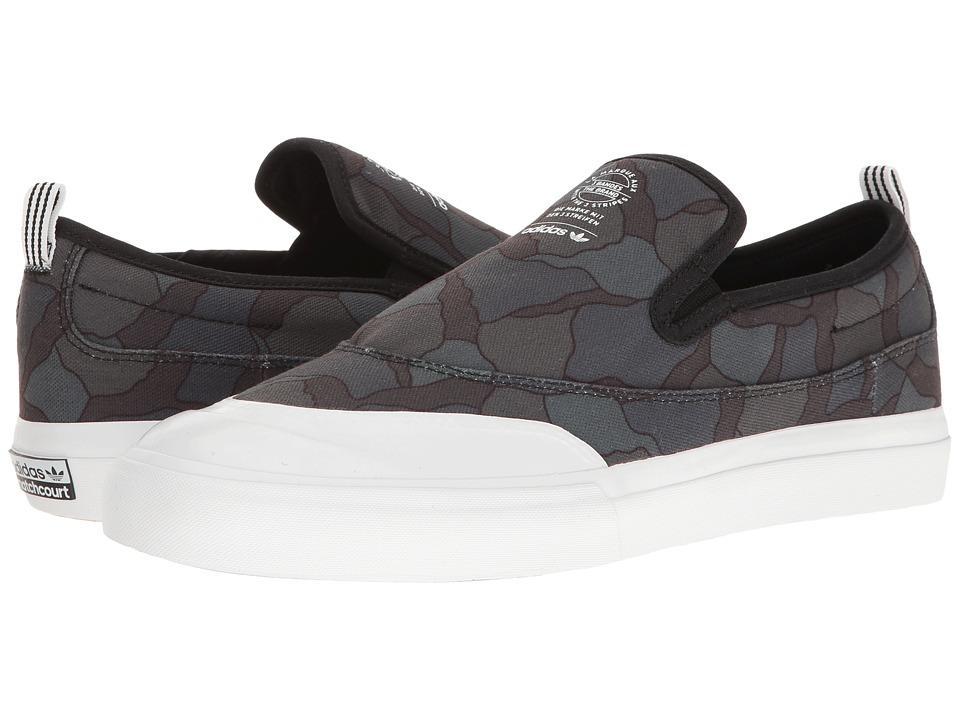 adidas Skateboarding - Matchcourt Slip ADV (Black/Utility Black/White) Men's Skate Shoes