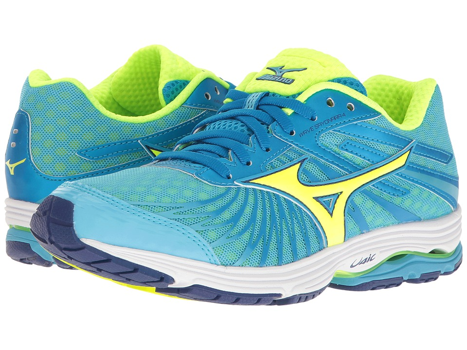 Mizuno - Wave Sayonara 4 (Norse Blue/Safety Yellow/Mazarine Blue) Women's Running Shoes