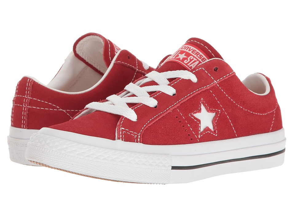 Converse Kids One Star Ox (Little Kid) (Red/White/Gum) Kids Shoes