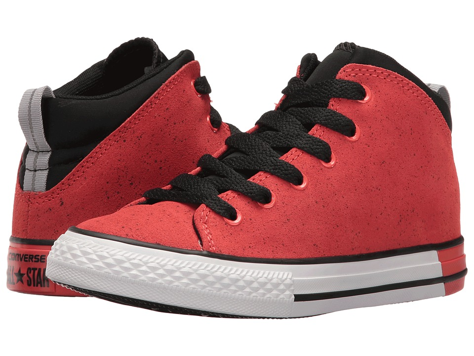 Converse Kids Chuck Taylor All Star Official Mid (Little Kid/Big Kid) (Ultra Red/Black/White) Boys Shoes
