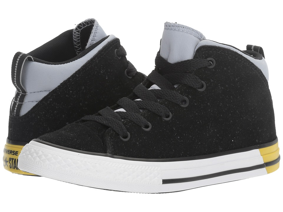 Converse Kids - Chuck Taylor All Star Official Mid (Little Kid/Big Kid) (Black/Blue Granite/White) Boys Shoes