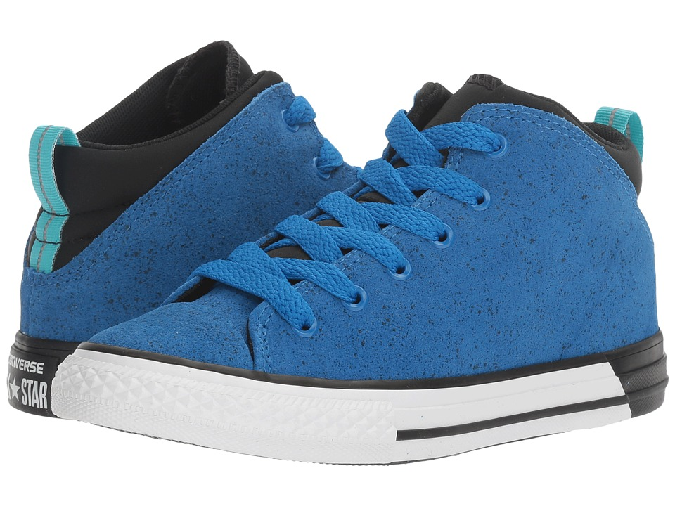 Converse Kids Chuck Taylor All Star Official Mid (Little Kid/Big Kid) (Soar/Black/White) Boys Shoes