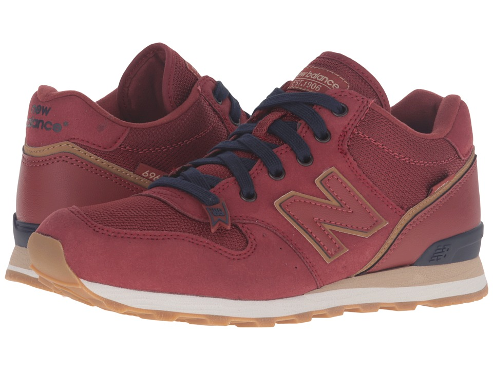 New Balance - WH696 (Burgundy) Women's Shoes