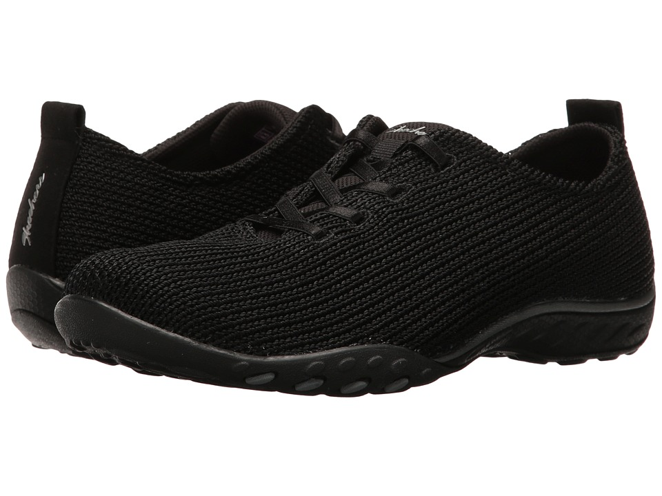 SKECHERS - Breathe Easy - Serendipity (Black) Women's Shoes