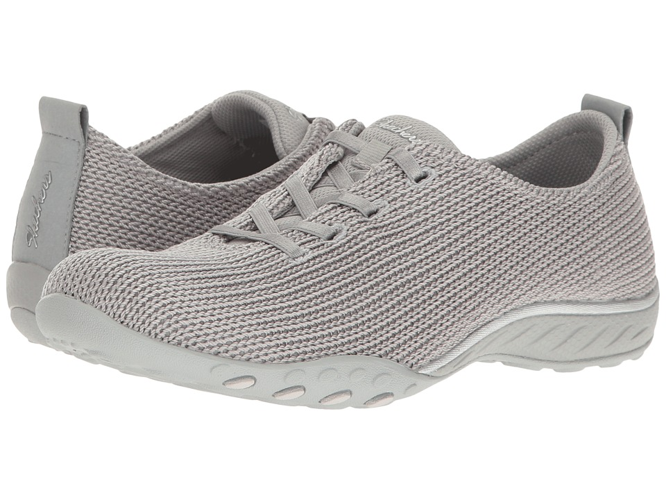 SKECHERS - Breathe Easy - Serendipity (Gray) Women's Shoes