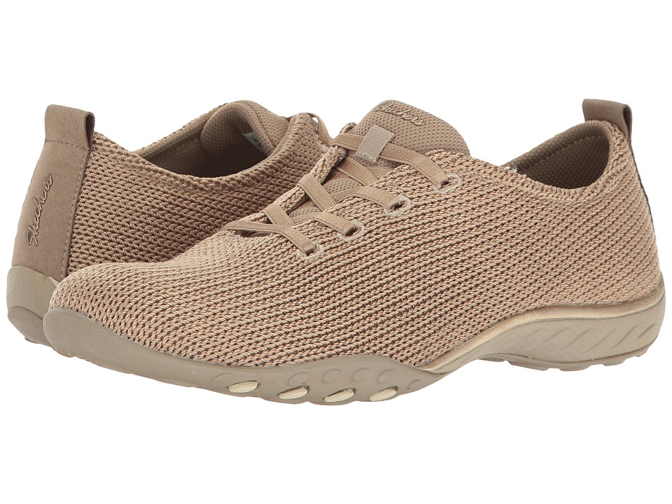 SKECHERS - Breathe Easy - Serendipity (Taupe) Women's Shoes