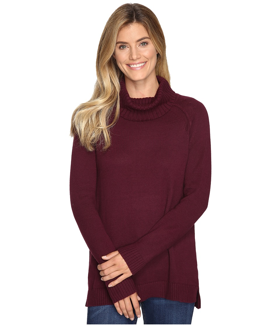 Lilla P - Cowl Neck Tunic - Cotton/Cashmere (Plum) Women's Clothing