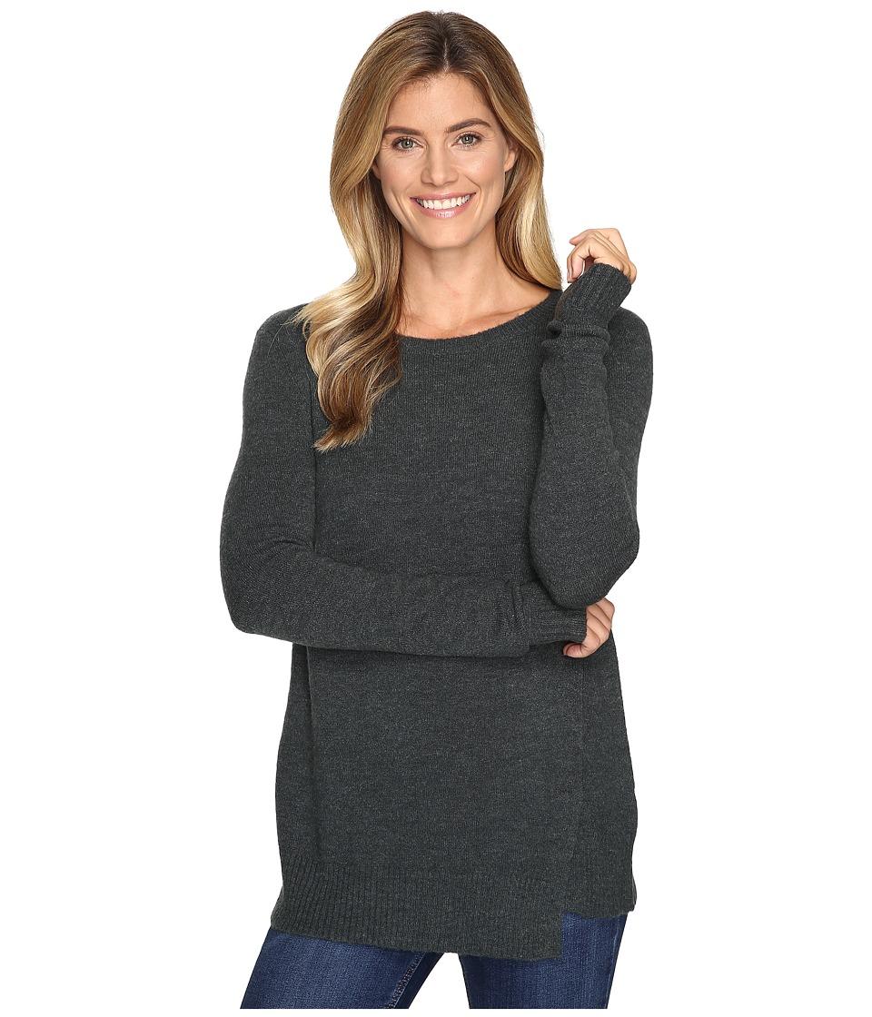 Lilla P - Twisted Seam Crew Neck (Juniper) Women's Clothing