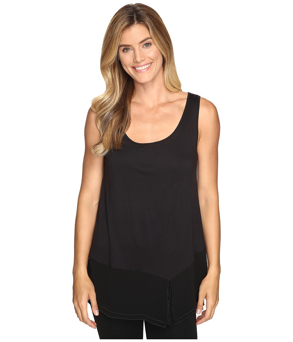 Lilla P - Sleeveless Scoop Neck Tank Top (Black) Women's Clothing