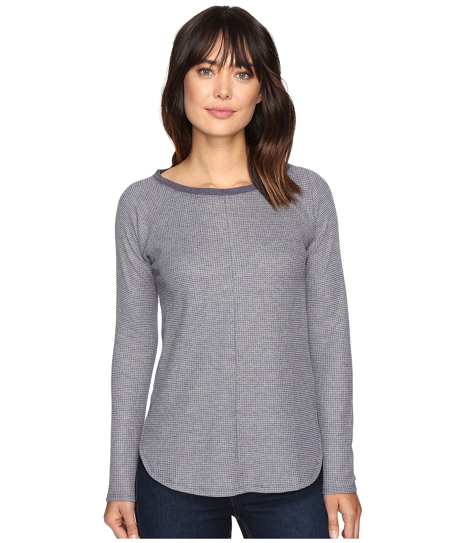 Lilla P - Long Sleeve Raglan (Navy Waffle) Women's Clothing
