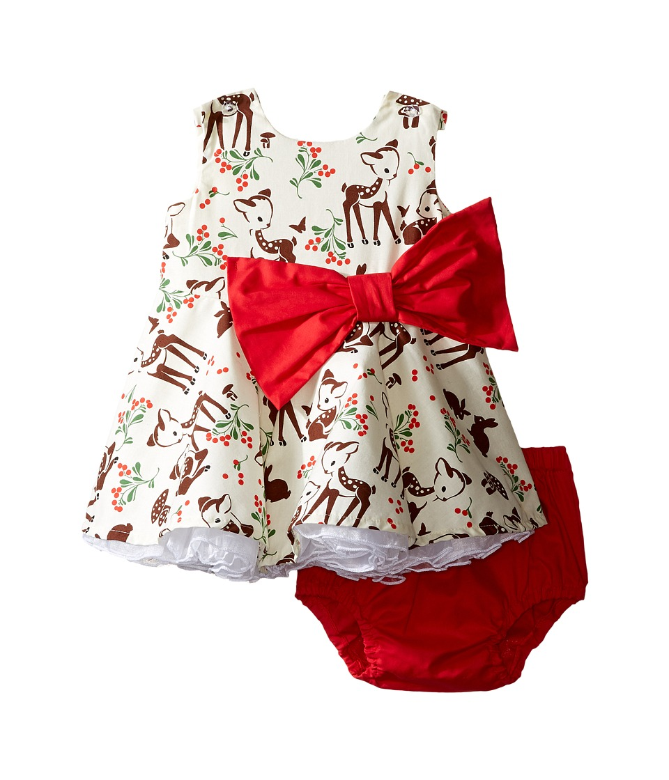fiveloaves twofish - Little Party Little Deer Dress (Infant) (Red) Girl's Dress