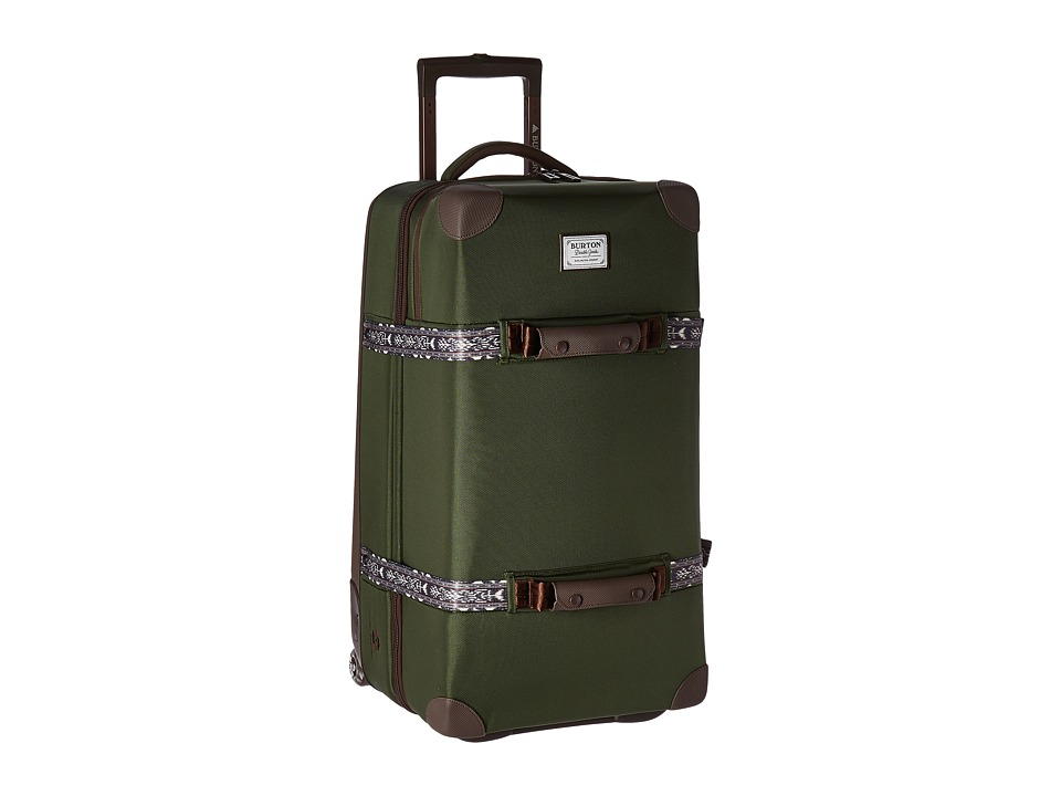 Burton - Wheelie Double Deck Travel Luggage (Rifle Green) Luggage