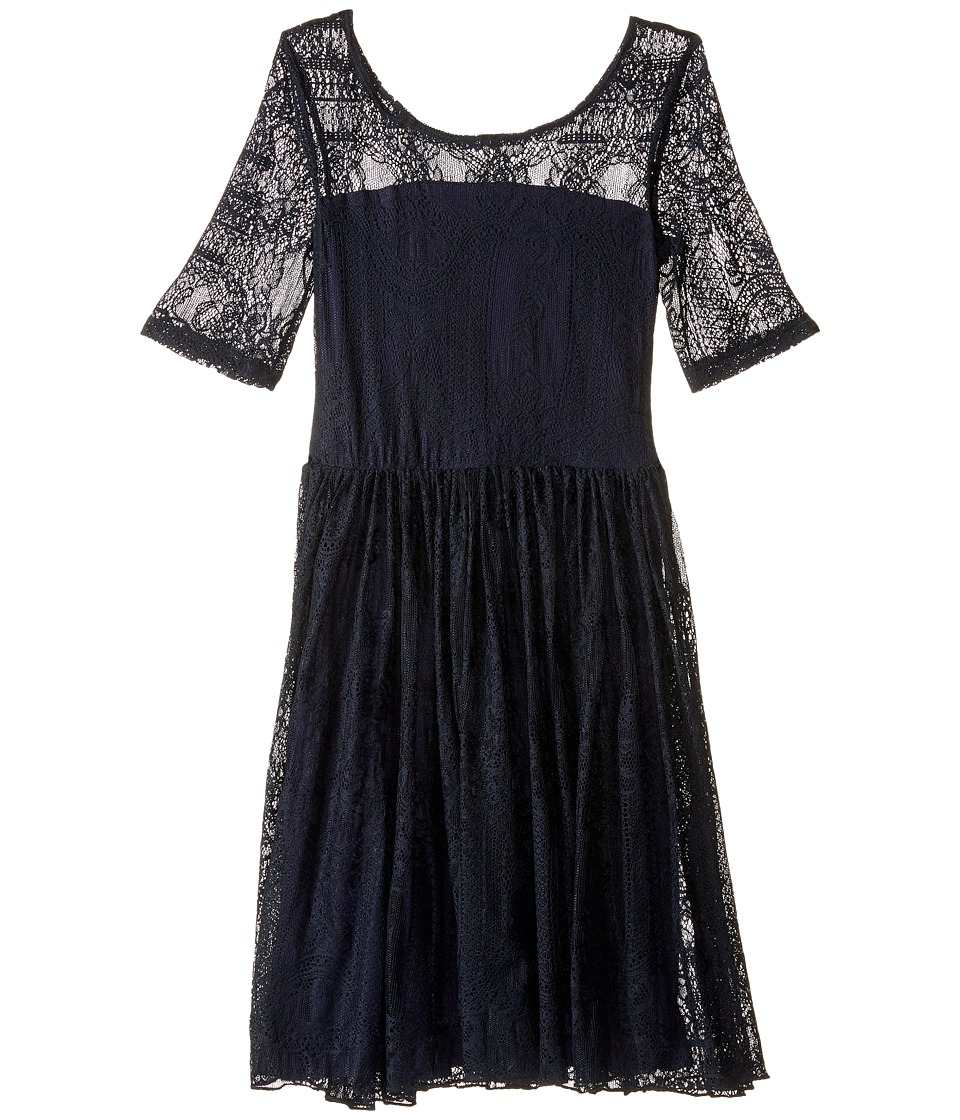 fiveloaves twofish - Maiden of the West Dress (Little Kids/Big Kids) (Navy) Girl's Dress
