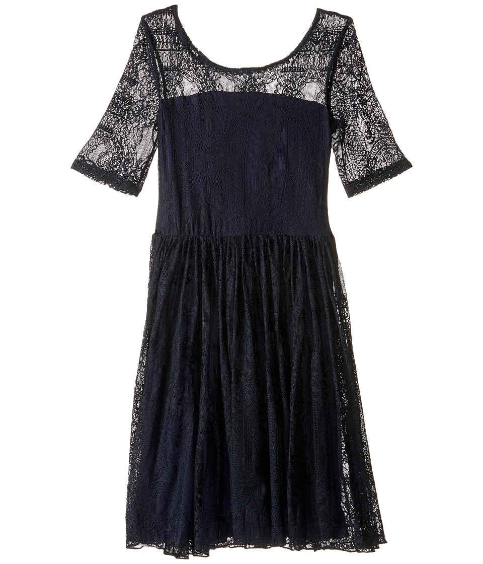 fiveloaves twofish - Maiden of the West Dress (Little Kids/Big Kids) (Navy) Girl's Dress
